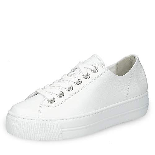 Paul Green 4790-014 Damen Sneaker feines Glattleder Textilfutter 25-mm-Plateau, Groesse 38, weiß