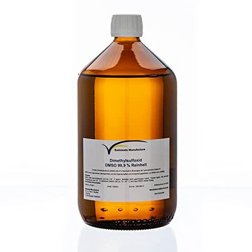 DMSO Dimethylsulfoxid 99,9% Reinheit 1000 ml in hydrolytischen Braunglas - Made in Germany