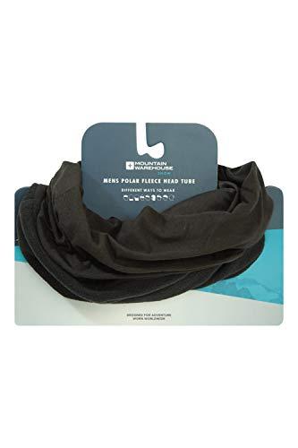 Mountain Warehouse Tube Polaire de tête Homme - Respirant, Convertible, Coupe-Vent, Combinaison Jersey et Polaire - pour Rester au Chaud en Hiver Noir