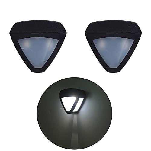 Obubble 2 lámparas solares para exterior, 10 LED, lámpara de pared, impermeable, resistente al polvo, farol solar para jardín, iluminación exterior en el patio interior de la villa (luz blanca)