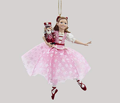 Kurt Adler Dancing Clara Christmas Ornament,Pink