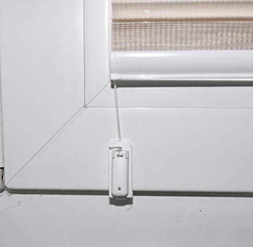Klemmträger für Plissee verspannt im Glasfalz ohne Werkzeug, ohne Kleben, ohne Bohren 4er Set Weiss