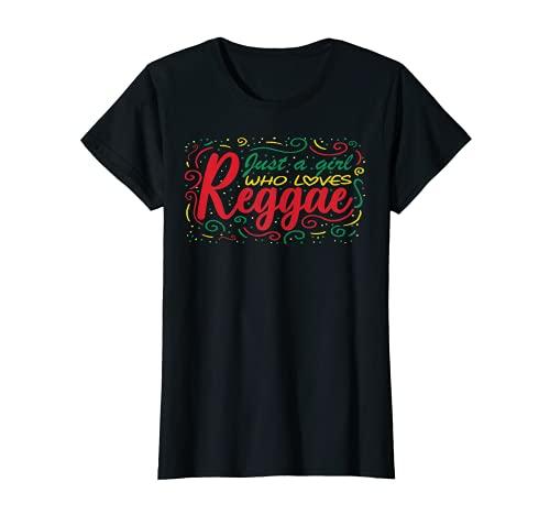 Mujer Just A Girl Who Loves Reggae - Ropa para mujer Camiseta
