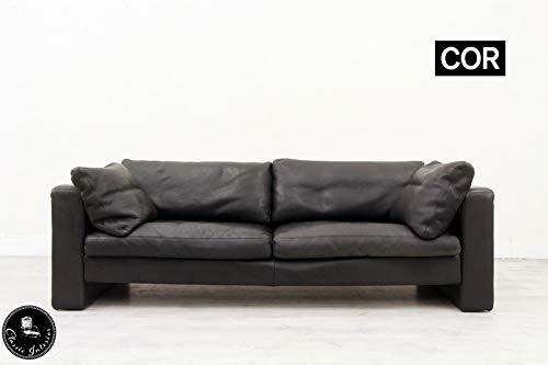 Classic Interior 3 er COR Conseta Designer Sofa Leder Ledersofa Couch Büffelleder