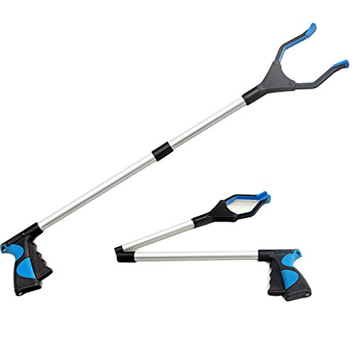 Jsdoin Pinza Larga, Alcanzar Objetos 82cm Herramienta de Captura Plegable, Brazo Más Largo para Recoger Basura, para los Viejos, Discapacitados y Trabajadores Sanitarios 🔥