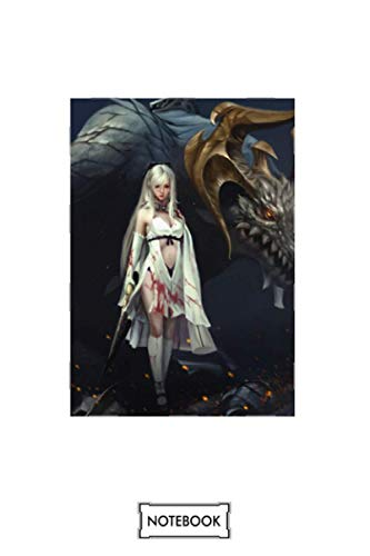 Cool Zero Drakengard Drag On Dragoon 3 Game Ps3 Notebook: Matte Finish Cover, Planner, Journal, Diary, 6x9 120 Pages, Lined College Ruled Paper