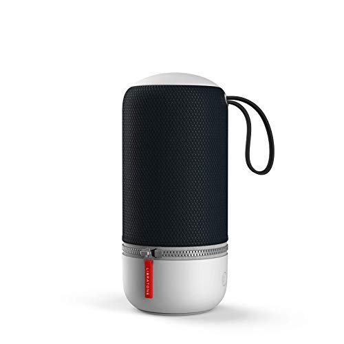 Libratone ZIPP MINI 2 Smart Wireless kleiner Lautsprecher (Alexa Integration, AirPlay 2, MultiRoom, 360° Sound, Wlan, Bluetooth, Spotify Connect, 12 Std. Akku) stormy black