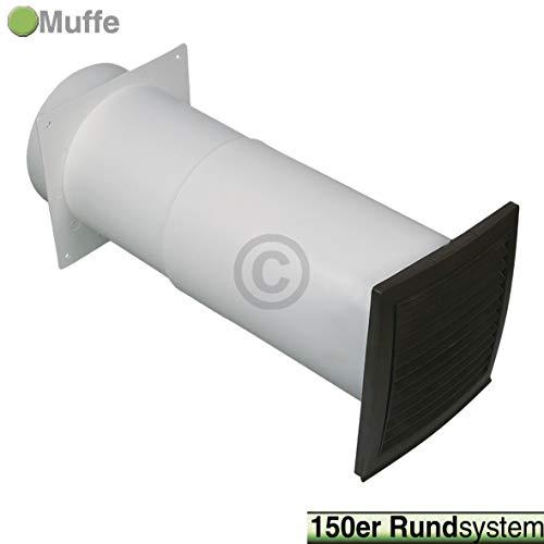 TronicXL Premium Mauer Durchführung Universal Mauerdurchführung braun 150er 150mm für Dunstabzugshaube Trockner Klimaanlage Zubehör