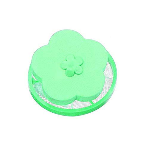 Filtre de Cheveux Net Machine à Laver Flottante Ménage Réutilisable Outil de Nettoyage Outil d'extraction Sac de Maille de Peluche Filet Filtrant Sac Pochette de Boule de Lavage (VERT, 1)