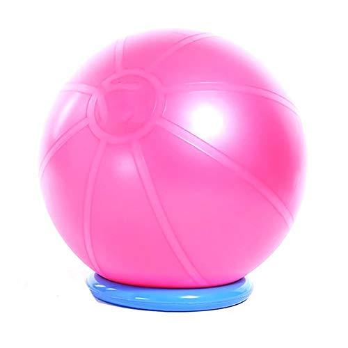 SSZY - Pelota de yoga con base, antiestallido para principiantes, oficina en casa, gimnasio, bomba de aire, color Rosa, tamaño 75cm/29.5in