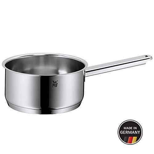 WMF Premium One Stielkasserolle, 16 cm, ohne Deckel, Kochtopf 1,5l, Cromargan Edelstahl poliert, Innenskalierung, Topf Induktion, unbeschichtet