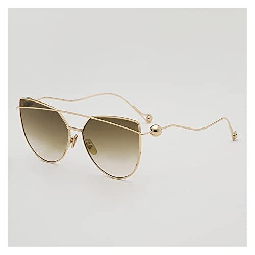 DWAC Gafas De Sol Personalizadas, Gafas De Sol De Marco De Metal De Moda Irregular, Gafas De Alta Marco De Alta Definición, Protección De La UVA Y UVB