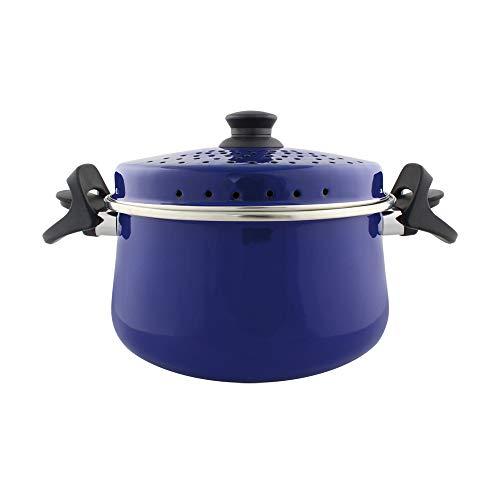 Espagueteira Bojuda 24 Esmaltada Azul - 4600 ml - Ewel, Linha Mãe Ágata