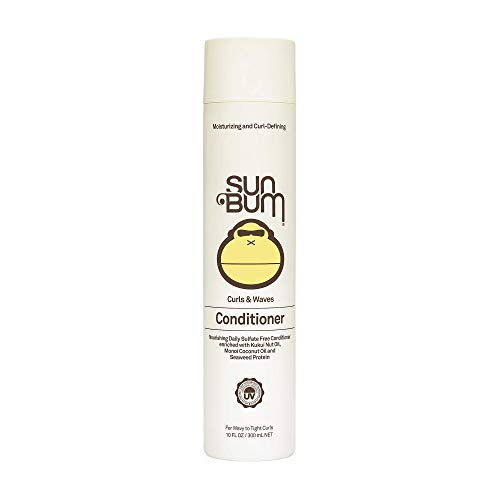 Sun Bum Curls & Waves Conditioner - Curly Hair Conditioner - Curl Defining - Shine Enhancing - Paraben Free - Sulfate Free Conditioner - 10 FL OZ Bottle - 1 Count