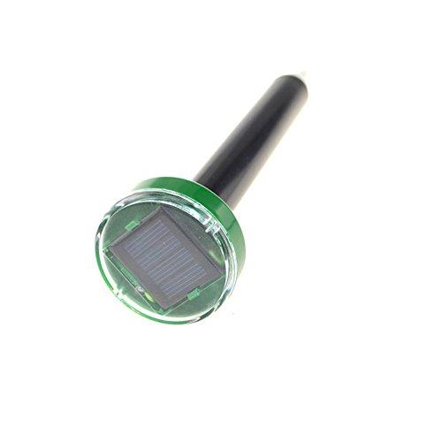 jieGorge 1 STK. Solar Ultrasonic Snake Mouse Repeller Pest Nagetier Repeller Reject Outdoor, Home Produkte für Ostertag (Schwarz)