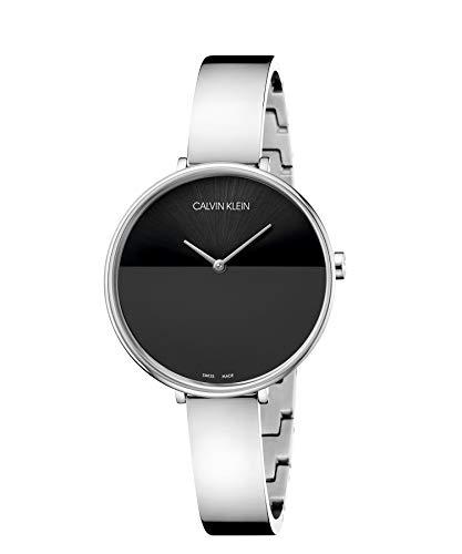 Calvin Klein Unisex Erwachsene Analog-Digital Quarz Uhr mit Edelstahl Armband K7A23141