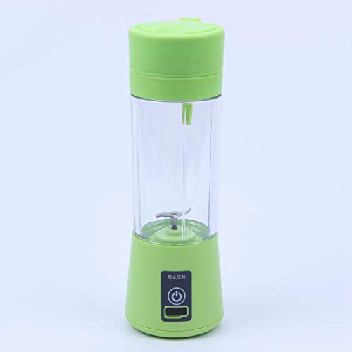 TOOGOO 380ml Taza Botella licuadora Recargable USB Mezclador de citricos de Jugo Botella escariador exprimidor batido de Fruta batido de Leche Verduras Limon