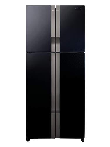 Panasonic Econavi 601 L 6-Stage Inverter Frost-Free Multi-Door Refrigerator (NR-DZ600GKXZ, Black Glass, Powered by Artificial...