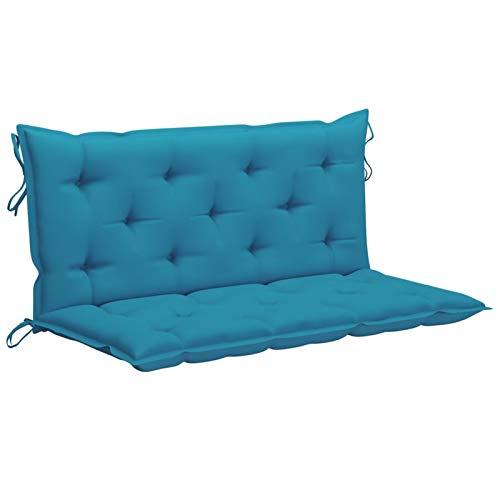 Festnight Cuscino per Dondolo, Cuscini Sedie Giardino, Cuscino per Panchina, Cuscino per Panca da Giardino, in Tessuto 120 cm Azzurro