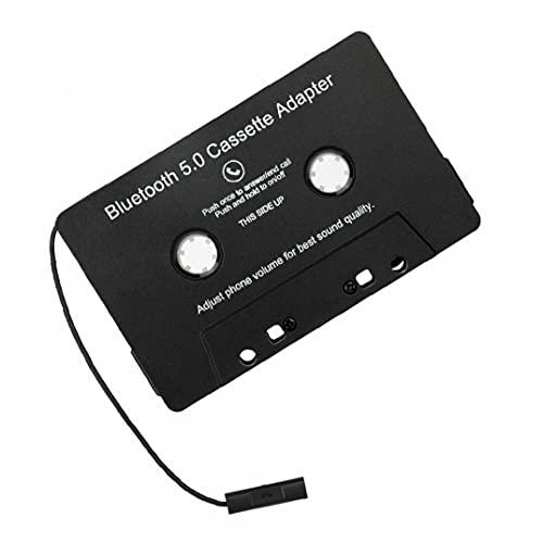 Tuimiyisou Bluetooth inalámbrico Cinta Adaptador de Coche Cinta de Cassette Audio del Coche Adaptador de Accesorio MP3 convertidor analógico Digital de Audio para Coche Negro