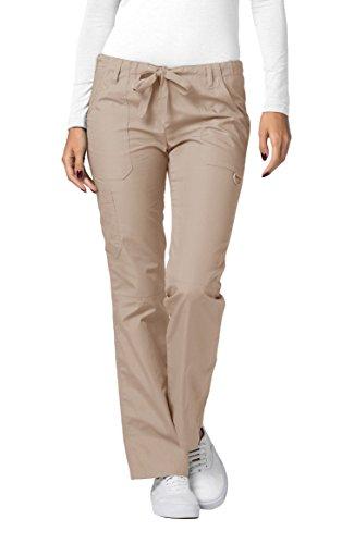 Adar Universal Scrubs for Women - Drawstring Straight Leg Scrub Pants - 510 - Khaki - L