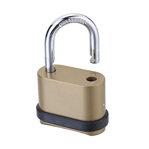 Padlock 4 Digit Combination Lock Gym Outdoor School Locker Rustproof Anti Theft Code Door Padlock, Heavy Duty Outdoor Combination Lock