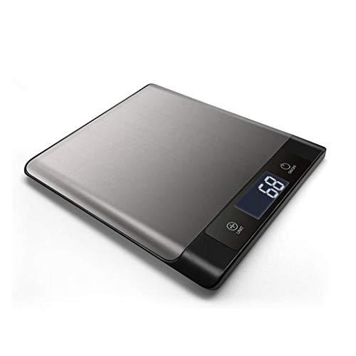DCJLH Báscula de Cocina Inoxidable Balanza De Cocina De Acero Balanza Electrónica Inteligente Bluetooth Mini Multifunción Casa