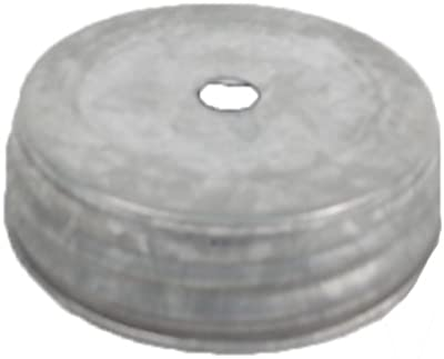 Craft Outlet 2.75-Inch Natural Screw on Lid with Hole, Small, Set of 6