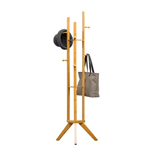 MQH Perchero Solid Wood Coat Rack Dormitorio Bomed Sky Stand Hanger Snow SART Pendientes Almacenamiento Hogar SART Permaadora Rack Perchero de Pie