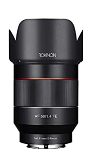 Rokinon IO50AF-E AF 50mm F1.4 Full Frame Auto Focus Lens for Sony E-Mount (B01J9SR100)   Amazon price tracker / tracking, Amazon price history charts, Amazon price watches, Amazon price drop alerts