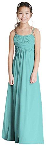 David's Bridal Long Chiffon Sweetheart Gown Style WJB0646, Spa, 14