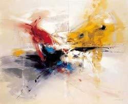Tableau Abstrait Beige, Peinture sur Toile, Dimension 50/60 Cm, Orientation Horizontale, Peinture À l'huile sur Toile De Coton Montée sur Châssis en Bois. Aucun Travail d'impression. Tableau Signé.