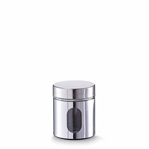 Zeller Present Vorratsglas, Frischhaltebehälter, 500 ml, Chrom