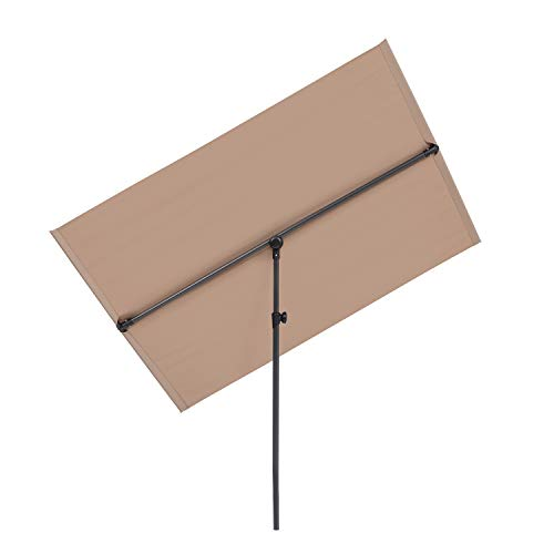blumfeldt Flex-Shade L Sonnenschirm Sonnenschutz,Fläche: 130 x 180 cm,Material: Polyester,UV-Schutzfaktor 50,Aluminium-Standbein,wasserabweisend,Taupe