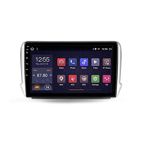 Android 10.0 Sat Nav Car Stereo 2 DIN Radio para Peugeot 2008 1 2013-2020 Navegación GPS 10 '' Pantalla táctil Reproductor Multimedia MP5 Receptor de Video con 4G / 5G WiFi Carplay