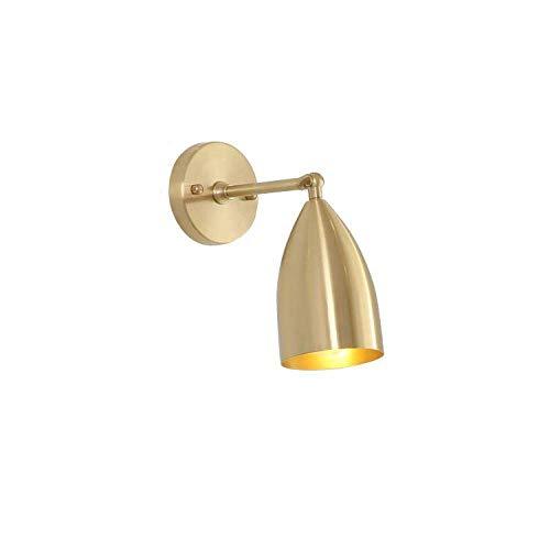 CHOUCHOU Apliques Pared Latón lámpara de Pared del Pasillo del Pasillo Ins Pared Dormitorio de la lámpara lámpara de cabecera del Espejo Faros Todos lámpara de Pared de Cobre