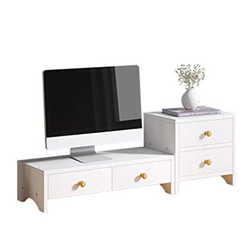 WXYNT Estantería De Escritorio,Monitor Stand Riser con Cajones Y Pequeña Librería,Multifuncional Estante para Aumentar La Altura del Monitor-A 1 50x20x13cm(20x8x5inch)