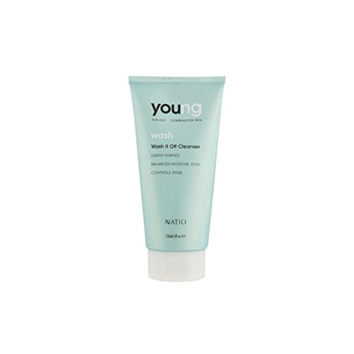 そっと発表ピン若いウォッシュそれオフクレンザー(150ミリリットル) x4 - Natio Young Wash It Off Cleanser (150ml) (Pack of 4) [並行輸入品]