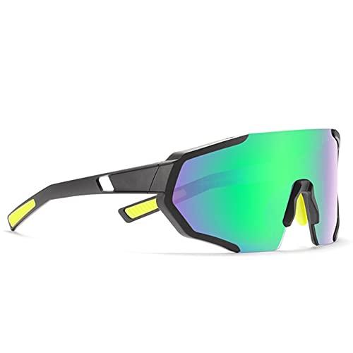 JTXQSI Gafas de Ciclismo 1.1mm Lente polarizada Lente de Luz Bicicletas Hombres Gafas de Sol Outdoors Mountain Bike Riding Eyeaglass (Color : C4)