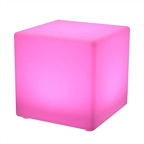 Paddia Cubo LED Luz de heces, impermeable recargable inalámbrica luz de la noche de control ajustable 16 del color 4 Brillo plaza Tabla Inicio decoración de la barra de café de heces lámpara de mesa a