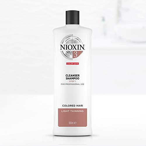 Nioxin Shampoo Sistema 3 per Capelli Colorati Leggermente Assottigliati, Formato Convenienza - 1000 ml