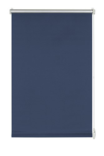 GARDINIA Thermo-Rollo mit Thermo-Rückseite zum Klemmen oder Kleben, Höchste Lichtreflektion, Energiesparend, Lichtundurchlässig, Alle Montage-Teile inklusive, EASYFIX Rollo Thermo, Blau, 75 x 150 cm (BxH)