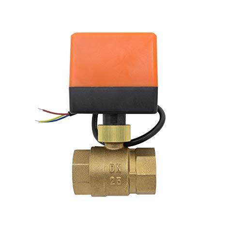 pequeño y compacto Electroválvula eléctrica 2 vías 220V normalmente cerrada 1/23/4 1 1-1 / 4…