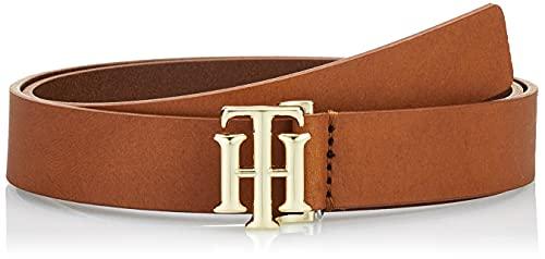 Tommy Hilfiger TH Logo Belt 2.5 Cinturón, Cognac, 75 para Mujer