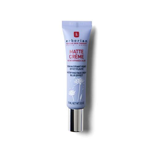 Erborian - Matte Crème - Base de Teint Matifiante 5-en-1 - Soin Matifiant Visage, Effet Flouté - Soin du Visage Coréen - 15ml