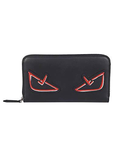 FENDI Luxury Fashion Herren 7M0210A72KF0PON Schwarz Leder Brieftaschen | Jahreszeit Outlet