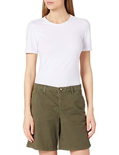 edc by ESPRIT Damen 991CC1C301 Shorts, 350/KHAKI Green, 36