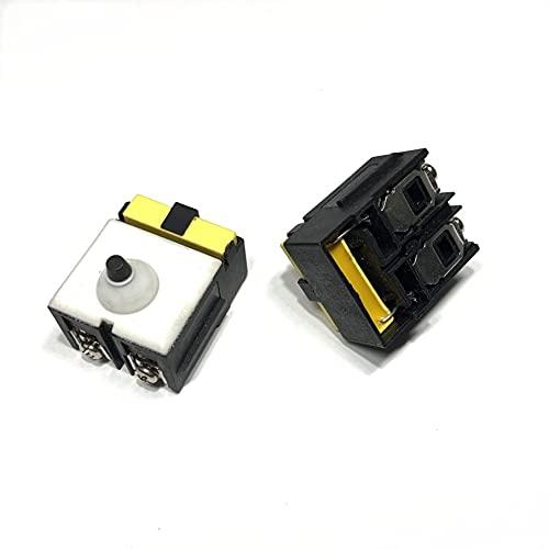 SDUIXCV Interruptor de Repuesto para Amoladora Angular DeWALT DW806 D28154 D28155 D28156 DW802 DW824 D28112 D28112X DW820