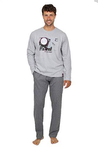 ANTONIO MIRO - Pijama Chico Moto Hombre Color: Gris Talla: XX-Large