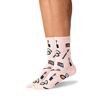 Hot Sox Make Up Crew Socks, 1 Pair, Blush Pink, Women's 4-10 Shoe